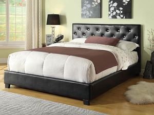 Full size platform bed frame box spring not required for Sale in North Highlands, CA