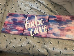 Babe cave room decoration 3 piece for Sale in La Verne, CA