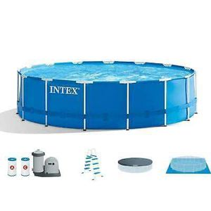 "Intex 18'x48"" Above Ground Prism Metal Frame Swimming Pool w/ Pump for Sale in Washington, DC"