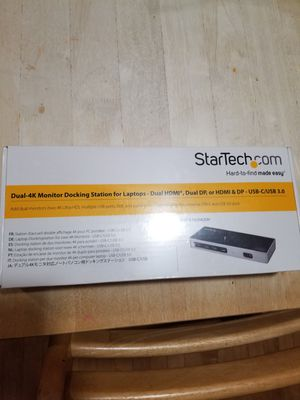 StarTech Dual-4k Monitor Docking Station for Laptops for Sale in Chicago, IL