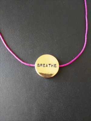 """""""Breathe"""" pink and gold-toned pendant/necklace for Sale in Glendale, AZ"""