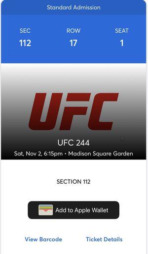 UFC 244 Nate Diaz vs Jorge Masvidal for Sale in Stockton, CA