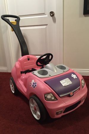 Car push on ride pink Step 2 Whisper Ride 1 years old and up for Sale in Franklin Park, IL