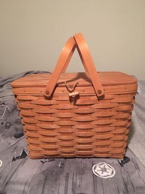 Longaberger vintage large picnic basket for Sale in Austin, TX