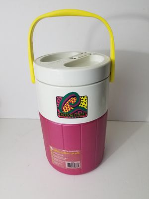 Vintage Coleman Pink & Yellow Handle 1 Gallon Thermos Water Cooler Jug Retro for Sale in Orlando, FL