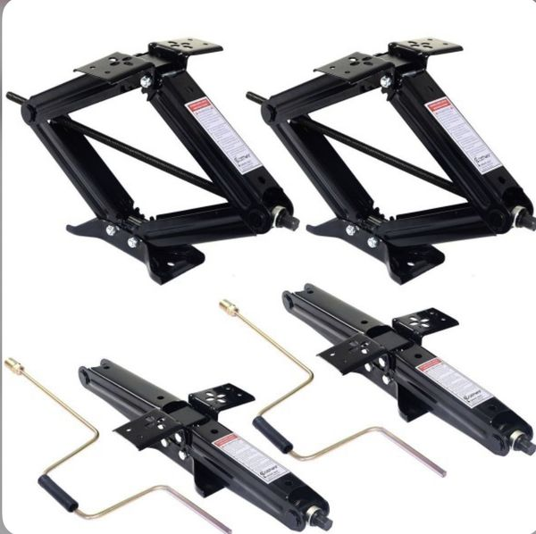4 pcs 5000 lbs RV leveling jacks trailer whith Handlers