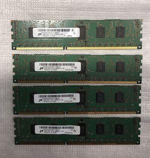 Micron 8GB RAM (4x2GB) 1RX8 PC3L 10600R MT9KSF25672PZ, memory for desktop. for Sale in Concord, NC