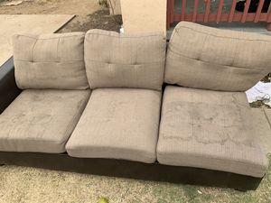 Beige couches have stains but could be cleaned need gone by tomorrow for Sale in Fresno, CA
