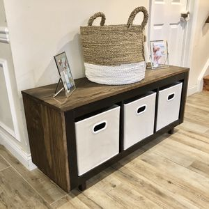 4 ft Oak Storage Bench [FREE DELIVERY] for Sale in Feasterville-Trevose, PA