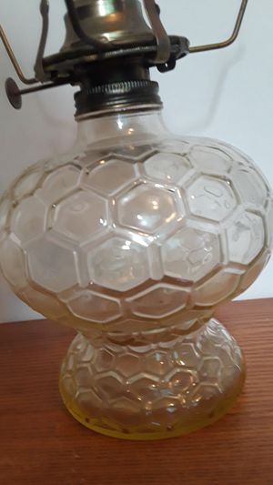 Antique Vintage Uranium Glass Oil Lamp for Sale in Dittmer, MO