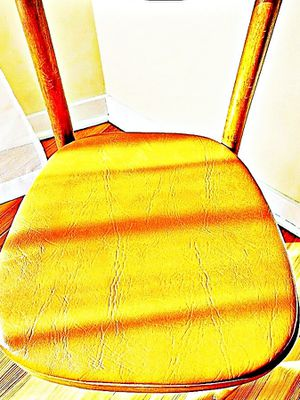 Wooden Shelby Williams Industries MCM chairs (4) with leather seat cushion. for Sale in Lynn, MA