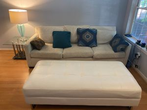 Couch with an ottoman for Sale in Southfield, MI