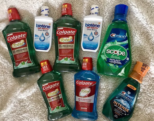 Mouthwash, toothpaste and toothbrush bundle