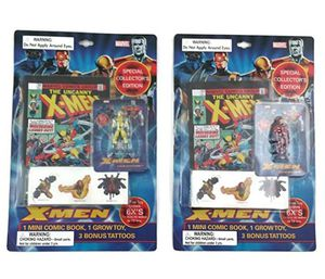 Marvel Comics X-Men Ultimate Grow Toy / Comic / Tattoos Collectible Bundle: One Magneto Collectible, One Wolverine Collectible for Sale in Ashland, MA