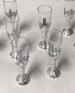 Mini wine glass party favor anniversary birthday decorations for Sale in Oakland Park, FL