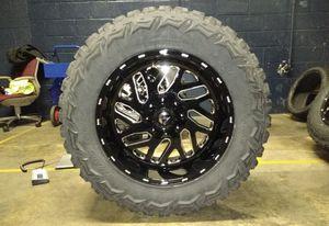 20x10 Fuel D581 Triton 35 MT Black Wheels Rims Tires 5x5.5 Dodge Ram 1500 for Sale in Tampa, FL