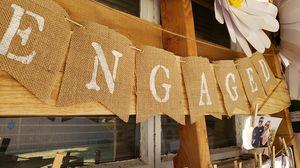 Engaged burlap banner for Sale in Fullerton, CA