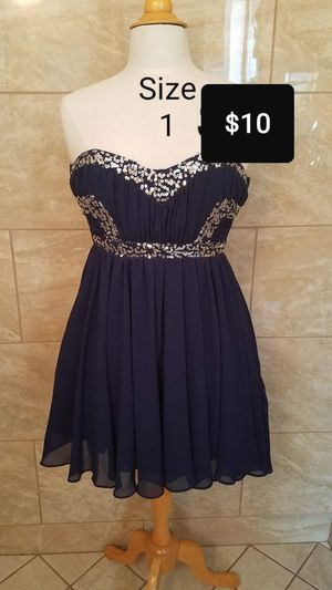Macy blue beautiful dress for Sale in Fresno, CA