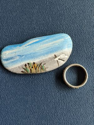 By the beach stone art: Breathing on the beach. for Sale in Junction City, OR