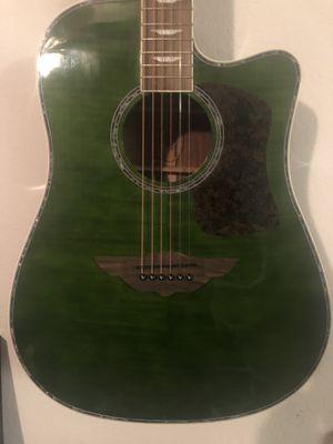 Keith Urban Green Acoustic Guitar w/ gig bag for Sale in Brandon, FL