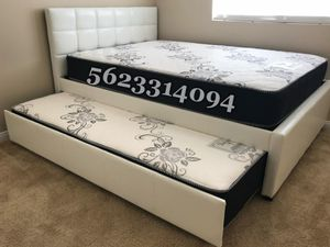 Trundle Full/Twin Bed wMattresses Included for Sale in Tracy, CA