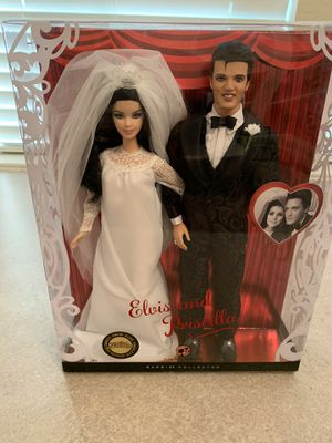 Elvis and Priscilla wedding barbies for Sale in Rockwall, TX