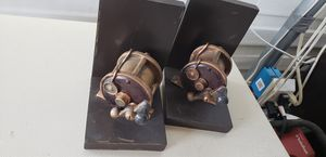 Fishing reel book ends. Nice. for Sale in East Wenatchee, WA