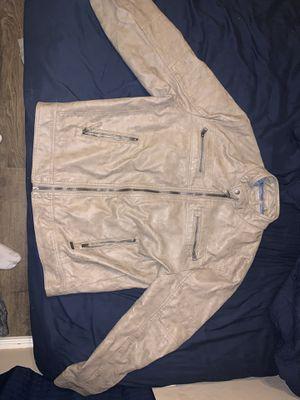 Men's Calvin Klein leather jacket for Sale in Goodyear, AZ