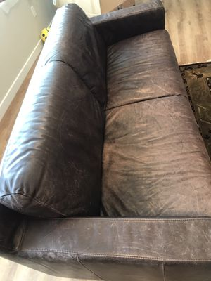 Kasala chocolate brown leather sofa for Sale in Bellevue, WA