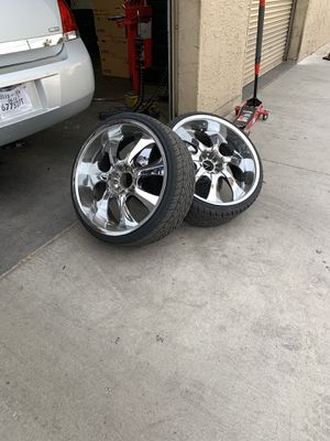 "22"" rims with new tires for Sale in Glendale, AZ"