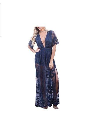 Navy blue lace romper dress for Sale in Galt, CA