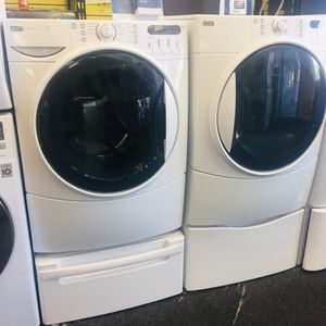 Kenmore Elite washer and electric dryer set excellent condition 90 days warranty for Sale in Woodstock, MD