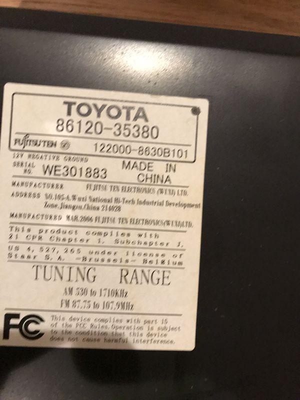 New Toyota 2007-2010 FJ Cruiser AM FM Radio mp3 , 6 Disc CD player