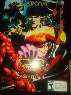 Street Fighter V Arcade Poster for Sale in Los Angeles, CA