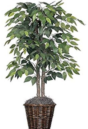 Artificial Plant 4ft with Rattan Basket High Quality Fake Tree for Sale in La Puente, CA