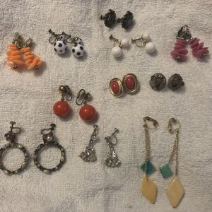 Vintage Lot Of Antique Earrings A couple Sterling for Sale in Longwood, FL