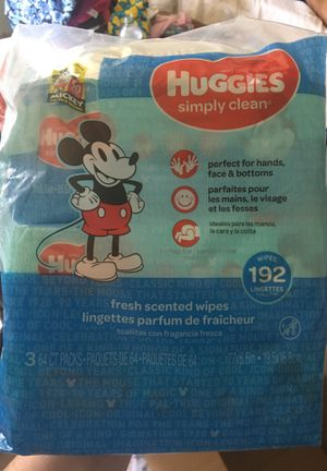 Huggies wipes 193ct for Sale in Meriden, CT