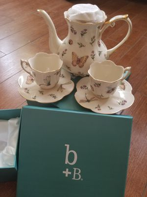 Burton and Burton tea set with 2 matching cups for Sale in Glendora, CA