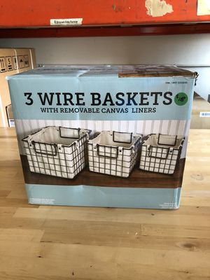 New 3 Wire Baskets for Sale in Westminster, CA