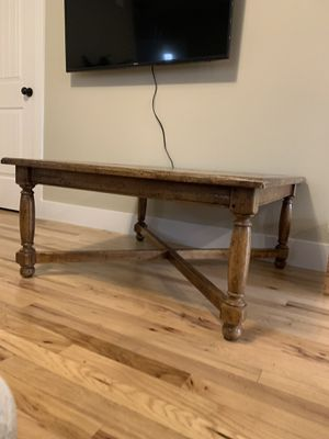 Ethan Allen Distressed Wood Coffee Table for Sale in Bend, OR