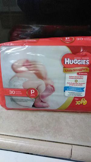Huggies preemie diapers for Sale in Visalia, CA