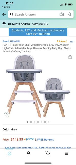 Brand new High chair for Sale in Fresno, CA