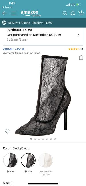 Kendal and Kylie lace bootie for Sale in Brooklyn, NY