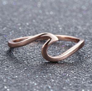 Fashion Ocean Wave Rose Gold Ring for Sale in Elgin, SC