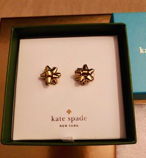 NIB Kate Spade boxed Bourgeois Bow Gold earrings for Sale in San Diego, CA