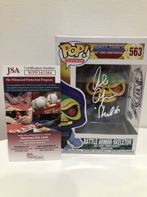 SKELETOR DUEL SIGNED FUNKO POP LE MINT for Sale in Pacifica, CA