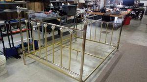 Double brass bed frame for Sale in La Porte, IN