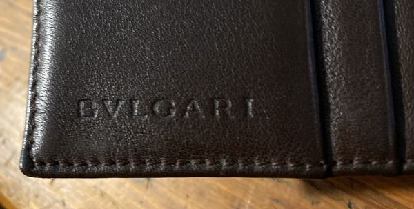 Bvlgari Brown Canvas & Leather wallet - Unisex