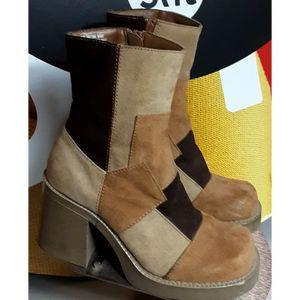 No Boundaries Women's Vintage Chunky Patch Mild Calf boots for Sale in Phoenix, AZ