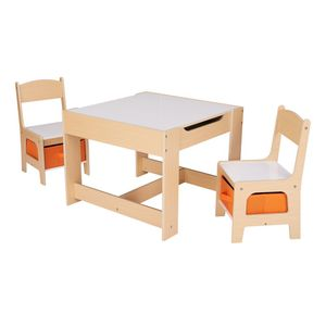 3 Piece Wooden Storage Table and Chairs Set for Kids for Sale in Henderson, NV
